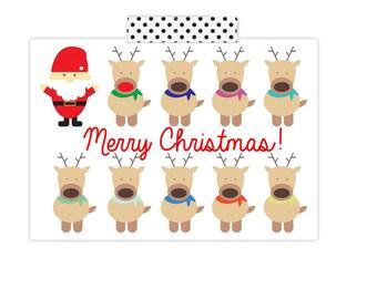 Reindeer- Merry Christmas- Christmas Card