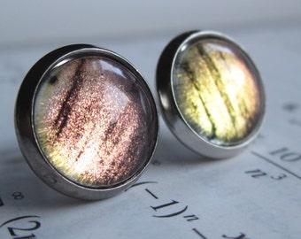 CMS - Earring studs - science jewelry - science earrings - galaxy jewelry - physics earrings - fake plugs - plug earring - nebula stud