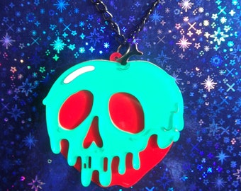 Snow White inspired poison apple necklace