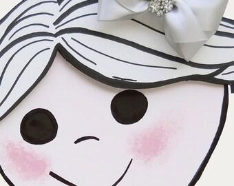 Silver Hair Bow - Girls Hair Bow - Toddler Hair Bow - Satin Ribbon Hair Bow - Boutique Hair Bow - Hair Accessory - Hair Clip - Sparkly Bow