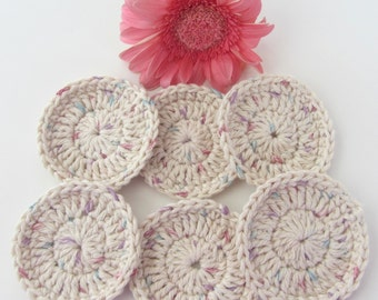 Set of 6 Spa Facial Cotton Scrubbies/Facial Cotton Cleanser pad/ Make up remover pads.