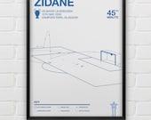 Zinedine Zidane vs Bayer Leverkusen Giclee Print
