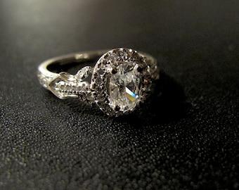 Vintage Designer Inspired Engagement Ring, Made to Order, #B0099