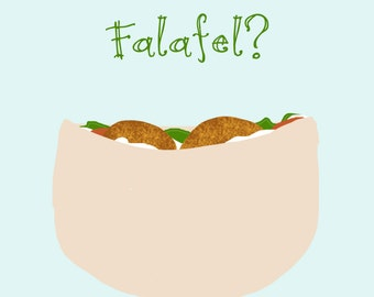 Funny Falafel Get Well Printable Card