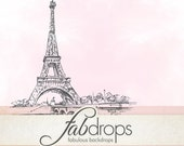 """Scenic Paris Photography Backdrop For Baby & Kids Portrait Photo Drop Photo Booth - Photography Background - """"Eiffel Tower """" (FD5014)"""