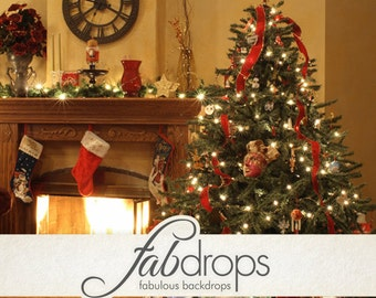 Christmas Photography Backdrop - Photo Background Is Perfect For Holiday Christmas Photoshoots (FD9007)