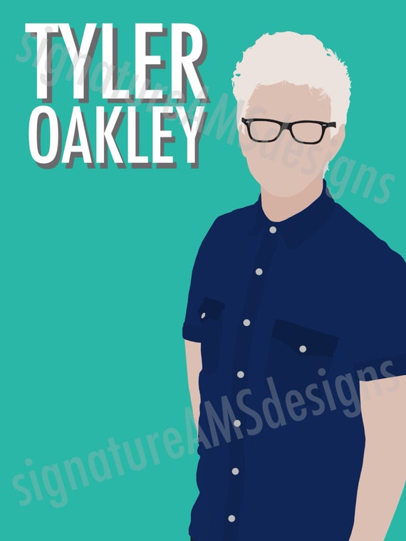 Minimalist Digital Artwork of YOUTUBER - Tyler Oakley. ( 11.7x16.5 inches / A3 )