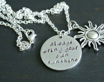 Always Bring Your Own Sunshine Necklace