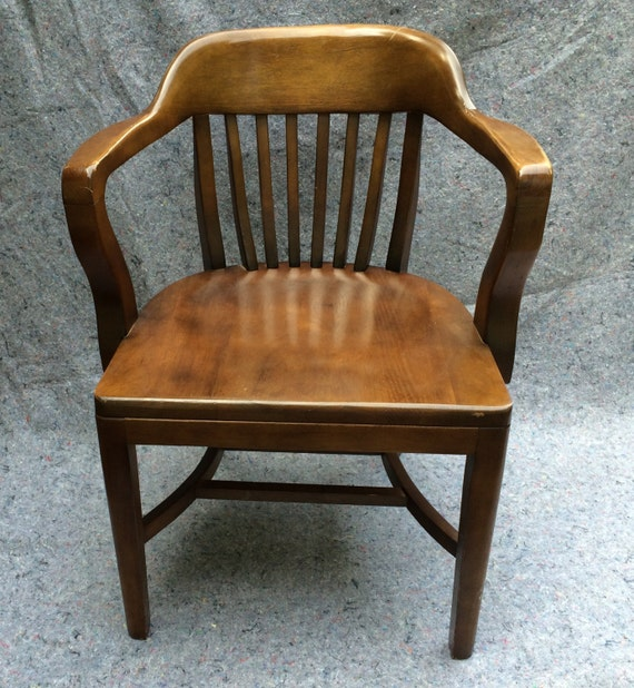 Vintage Bankers Chair Library Chair Boling Chair North