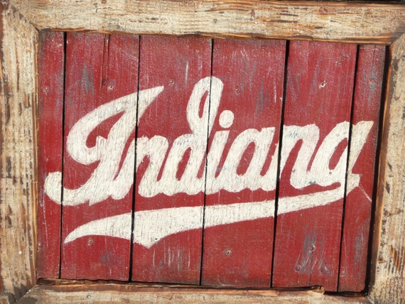 Indiana Hoosiers Framed Pallet Sign