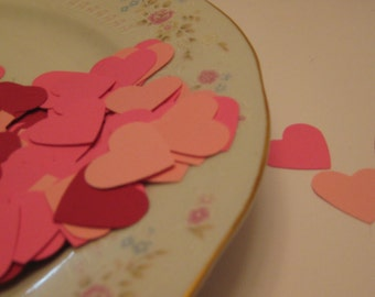 100 Hearts Hand Punched / Heart  Die Cuts / Scrapbooking Embelllishments / Card Embellishments / Confetti / ANY COLORS