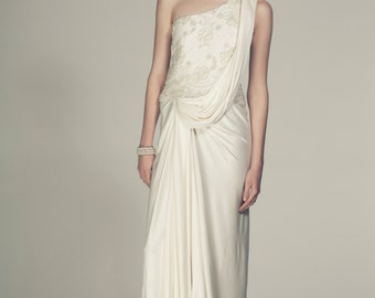 Silk Jersey Grecian Wedding Dress