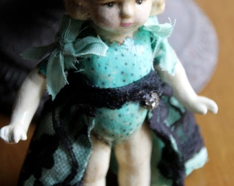 "Art/Altered Doll OOak Handmade Antique Looking ""Jolene"""