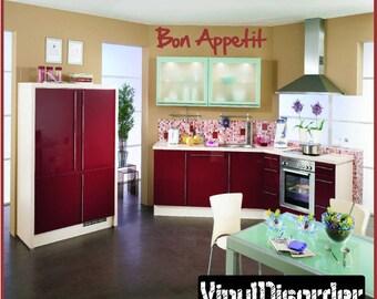 Bon appetit - Vinyl Wall Decal - Wall Quotes - Vinyl Sticker - Kitchenquotes10ET