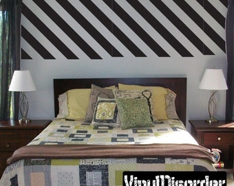 Diagonal Line Wall Pattern Vinyl Wall Decal Or Car Sticker - Mvd028ET