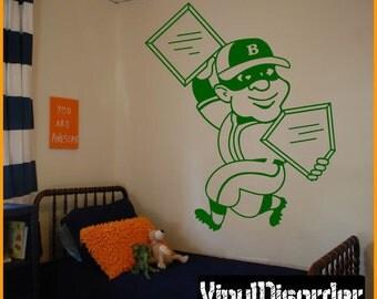 Baseball Player Vinyl Wall Decal or Car Sticker - BaseballMC001ET