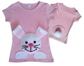 Kids Easter shirt,  baby Easter outfit,  Easter Bunny clothes,  Easter Outfits,  Easter Tshirts,  Kids Clothes,  Easter applique, pink bunny