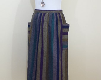 Size 6/8 Striped Wool Blend Skirt
