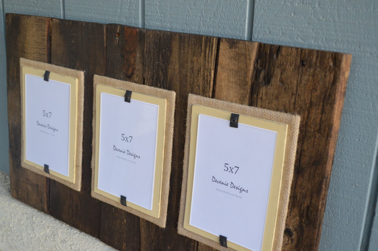 Triple Plank Frame For 5x7 Pictures Reclaimed By
