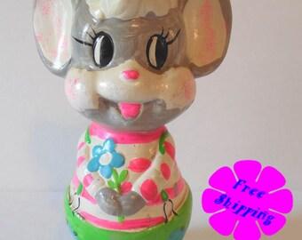 1966 Holiday Fair Chalkware Mouse Bank