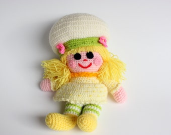 Large Lemon Meringue Vintage Strawberry Shortcake Crochet Doll