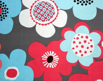 Floral fabric by the yard, modern floral fabric by Paula Prass from Woodland Delight for Michael Miller. Need more yardage? Just ask.
