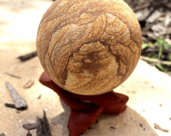 Sandstone Sphere 53 mm, 164 grams