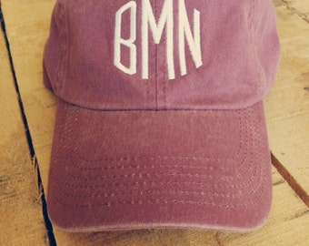 Monogrammed Baseball Cap for Women