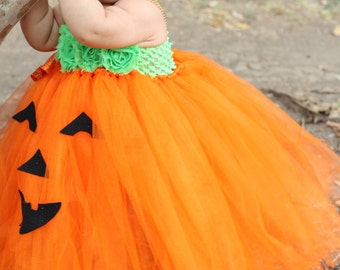 Adorable Baby Pumpkin Costume Pumpkin Tutu Dress For Baby Girl 6-18 Months Baby Halloween
