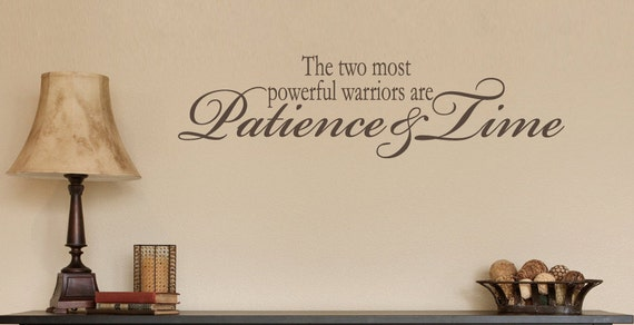 Inspirational Wall Decal The Two Most Powerful Warriors Quote Vinyl Quote for Home Family