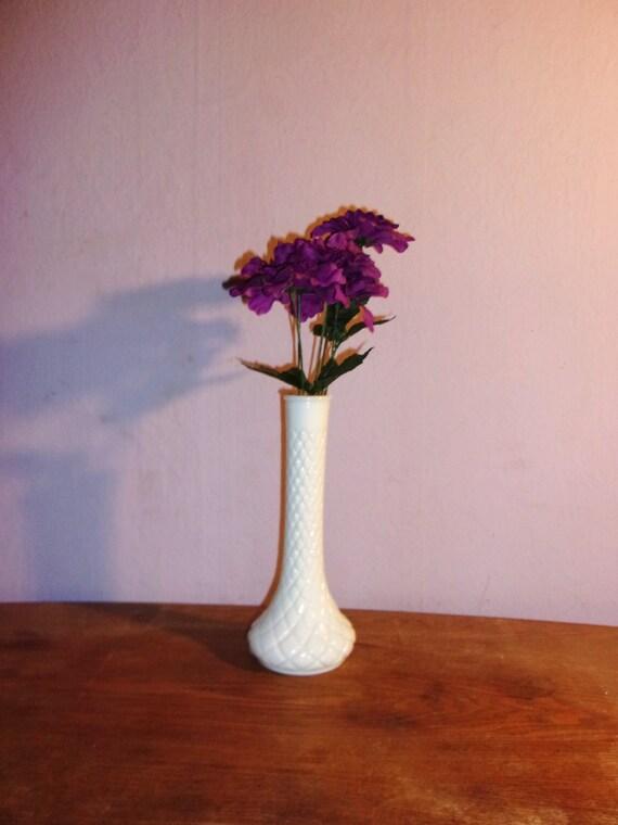 Glass vase flower milk wedding by