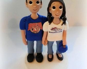 Custom Sports Team Jersey Wedding CakeTopper