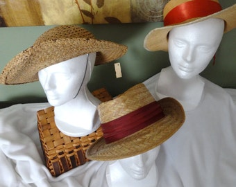 A Unique Collection of Straw Vintage Hats