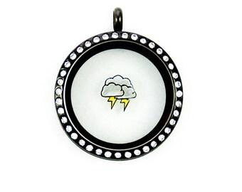 Lightning Cloud Rain Thunder Storm Floating Charm
