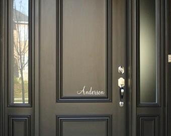 Front Door Custom Last Name Vinyl Decal Sign - Mailbox Name