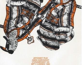 Kagemusha original Czech film poster A1 Akira Kurosawa