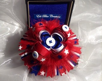 Patriot Star - Red, White and Blue Hair Bowtique Bow