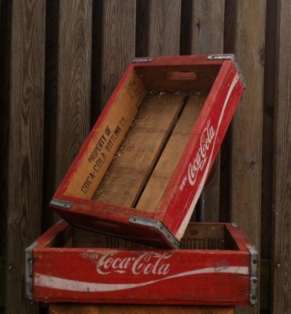 items similar to wooden bottle racks coca cola vintage deco original collector on etsy. Black Bedroom Furniture Sets. Home Design Ideas