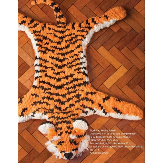 Items Similar To Tiger Rug Knitting Pattern Download