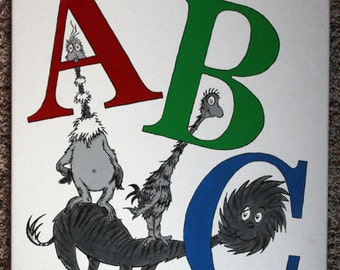 """ABC Book inspired by Dr. Seuss: 22"""" x 28"""""""