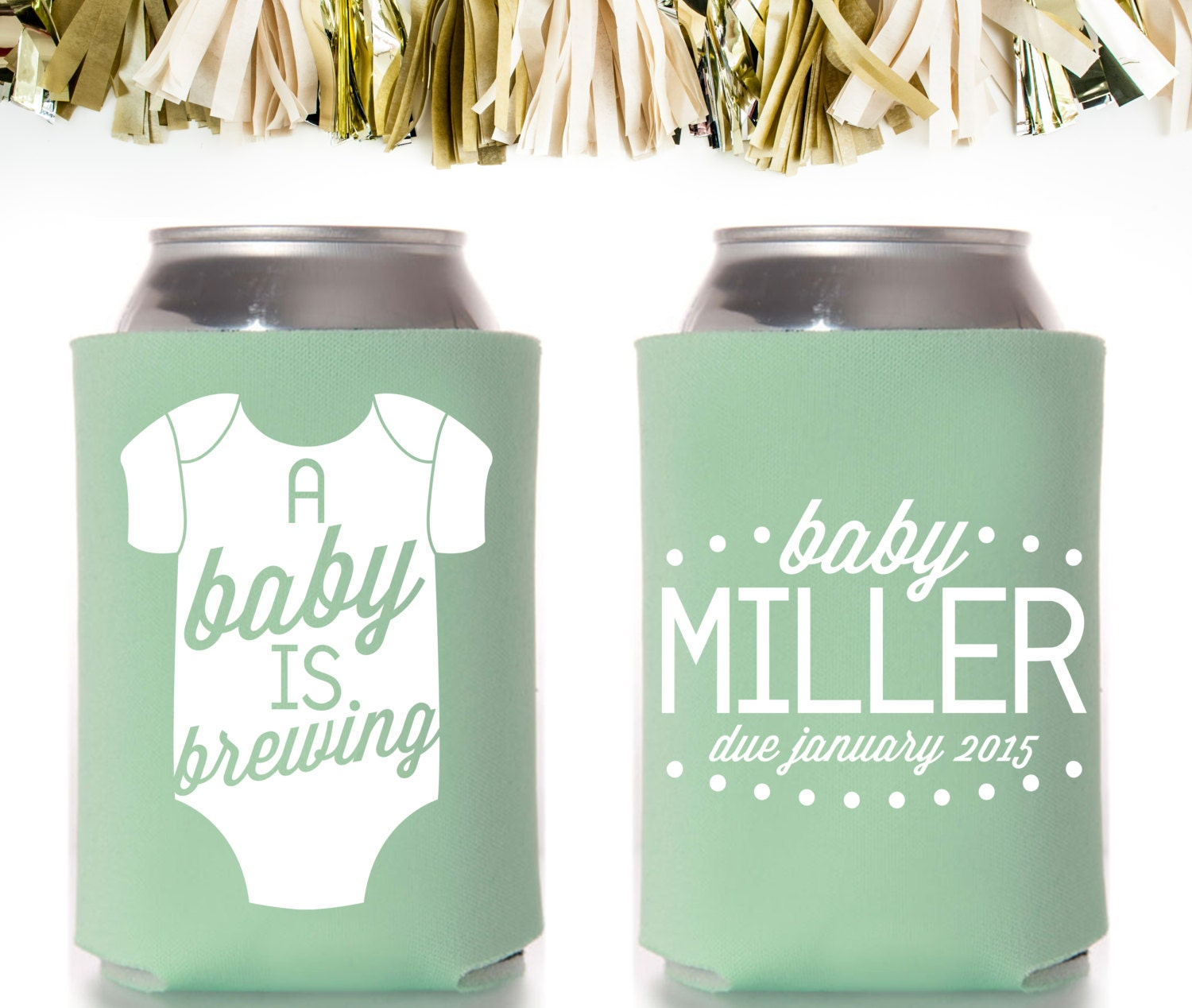 personalized and custom baby shower koozie a by coffeltdesigns