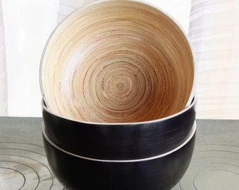 Black Bamboo Bowl