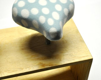 Blue & White Polka Dot Bicycle Seat Cover