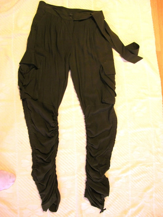 Lastest Details About Womens Army Green Baggy Loose Cargo Pants Wide Boyfriend