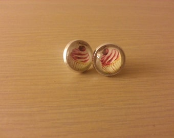 Cupcake plug style earrings