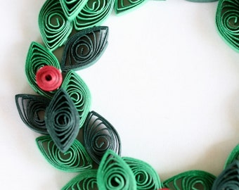 Quilled Paper Christmas Wreath Ornament