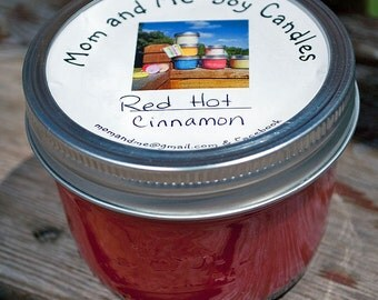 Red Hot Cinnamon 8 ounce Scented Soy Candle