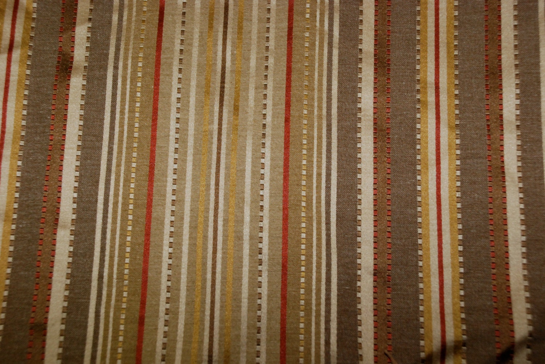 Elegant Red And Gold Stripe Fabric Bedskirt Stripe