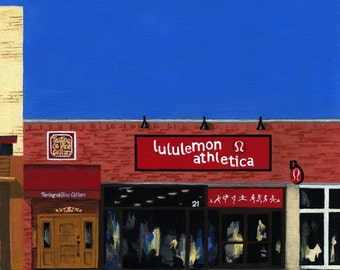 Ceramic Tile-Naperville, Illinois-lululemon Athletica-Painting the Town Series-Ceramic Tile-Ceramic Coaster-drink coaster-Decorative Artwork