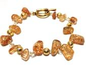 Citrine and gold bracelet